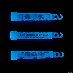 Personalized Autism Awareness Blue Glow Sticks