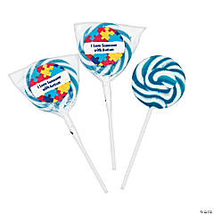Personalized Autism Awareness Swirl Pops