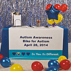 Personalized Autism Awareness Table Runner