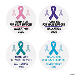 Personalized Awareness Ribbon Favor Stickers