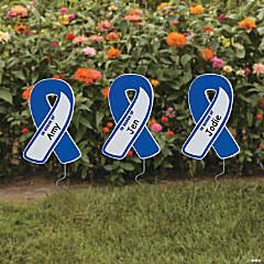 Personalized Awareness Ribbon Yard Signs