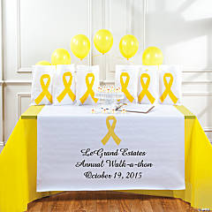 Personalized Awareness Yellow Ribbon Table Runner