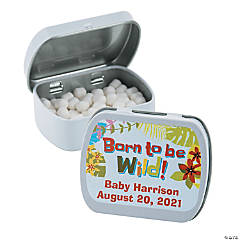 Personalized Baby Jungle Mint Tins