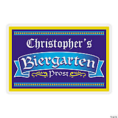 Personalized Biergarten Wooden Sign