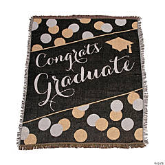 Personalized Black & Gold Graduate Throw