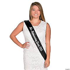 Personalized Black Royalty Sash