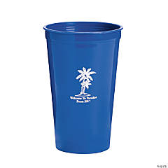 Personalized Blue Luau Tumblers