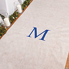 Personalized Blue Monogram Aisle Runner