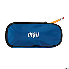 Personalized Blue Pencil Case - Script Initials