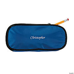 Personalized Blue Pencil Case - Script Name