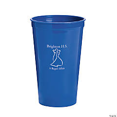 Personalized Blue Prom Couple Tumblers