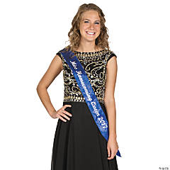 Personalized Blue Royalty Sash