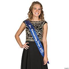 Personalized Blue Royalty Sash