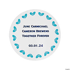 Personalized Blue Watercolor Favor Stickers