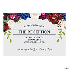 Personalized Bold Bouquet Reception Cards