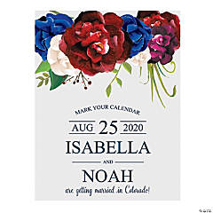 Personalized Bold Bouquet Save the Date Cards