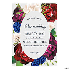 Personalized Bold Bouquet Wedding Invitations