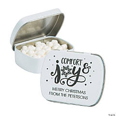 Personalized Bold Christmas Mint Tins