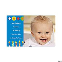 Personalized Boy Birthday Photo Magnet