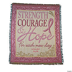 Personalized Breast Cancer Awareness Throw