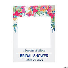Personalized Bright Floral Frame Cutout