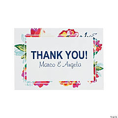 Personalized Bright Floral Thank You Cards