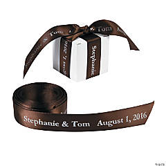 Personalized Brown Ribbon - 7/8