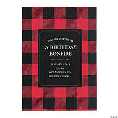 Personalized Buffalo Plaid Invitations