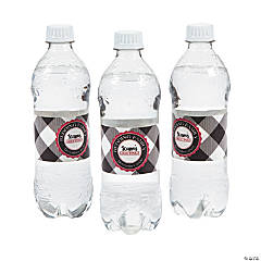 Personalized Buffalo Plaid Water Bottle Vinyl Labels