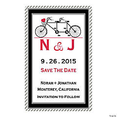Personalized Built for Two Save the Date Magnets