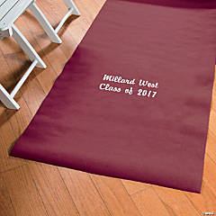 Personalized Burgundy Graduation Aisle Runner