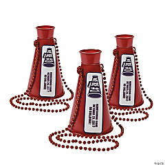 Personalized Burgundy Team Spirit Megaphone Bead Necklaces