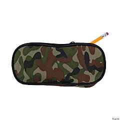 Personalized Camo Pencil Case - Block Initials