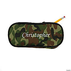 Personalized Camo Pencil Case - Script Name