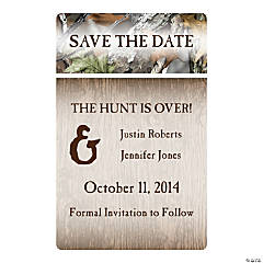 Personalized Camo Save the Date Magnets