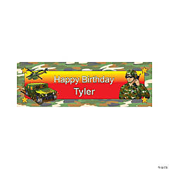 Personalized Camouflage Army Vinyl Banner