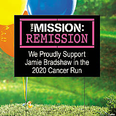 Personalized Cancer Remission Yard Sign