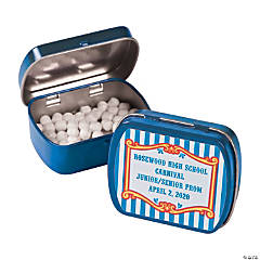 Personalized Carnival Mint Tins