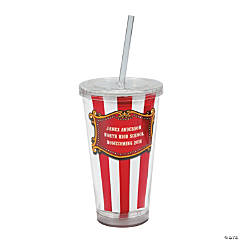 Personalized Carnival Tumbler with Lid & Straw