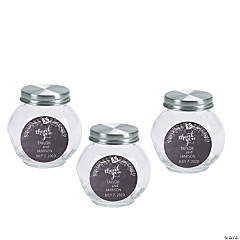Personalized Chalk Floral Round Jar Favors
