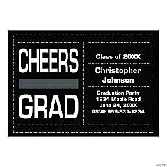 Personalized Cheers Grad Invitations