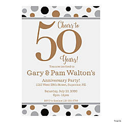 Personalized Cheers to 50 Years Invitations