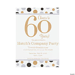 Personalized Cheers to 60 Years Invitations