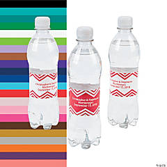 Personalized Chevron Water Bottle Labels