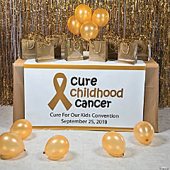 Personalized Childhood Cancer Awareness Table Runner