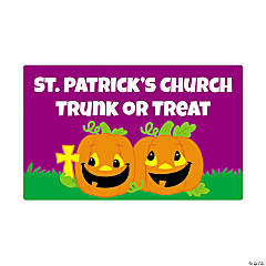 Personalized Christian Pumpkin Favor Stickers