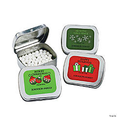 Personalized Christmas Mint Tins