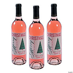 Personalized Christmas Wine Labels