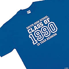 "Personalized ""Class Of"" Blue T-Shirt"