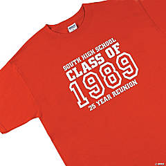 "Personalized ""Class Of"" Red T-Shirts Group"